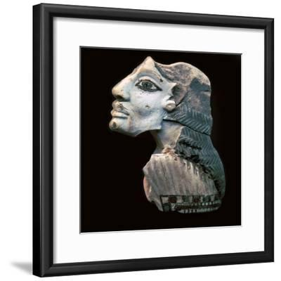 Egyptian glazed relief of a Lybian captive. Artist: Unknown-Unknown-Framed Giclee Print
