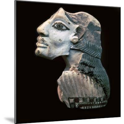 Egyptian glazed relief of a Lybian captive. Artist: Unknown-Unknown-Mounted Giclee Print