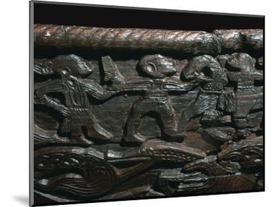 Detail of the Oseberg Cart from the Oseberg ship burial, 9th century. Artist: Unknown-Unknown-Mounted Giclee Print