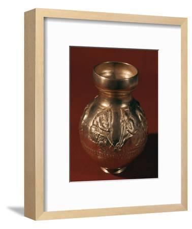 Electrum Graeco-Scythian vase showing Scythian activities, 4th century BC. Artist: Unknown-Unknown-Framed Giclee Print