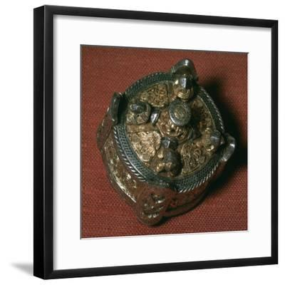 Silver-gilt Viking fibula. Artist: Unknown-Unknown-Framed Giclee Print