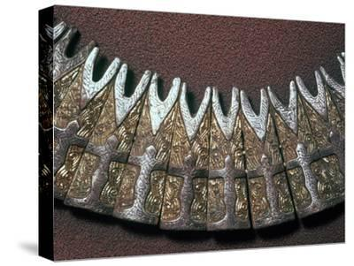 Detail of a Viking neck ornament. Artist: Unknown-Unknown-Stretched Canvas Print