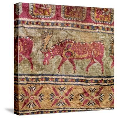 Detail of Scythian pile carpet, 5th century BC. Artist: Unknown-Unknown-Stretched Canvas Print