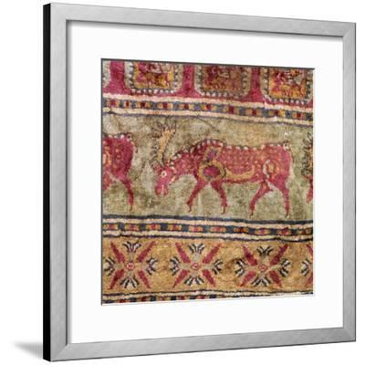 Detail of Scythian pile carpet, 5th century BC. Artist: Unknown-Unknown-Framed Giclee Print