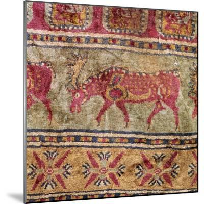 Detail of Scythian pile carpet, 5th century BC. Artist: Unknown-Unknown-Mounted Giclee Print