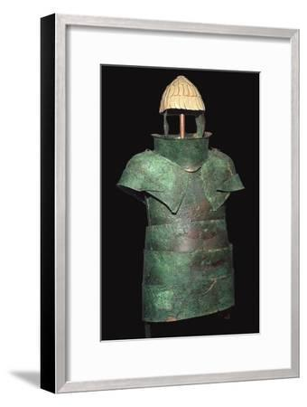 Set of Mycenaean armour with cuirrass and helm, c.16th century BC. Artist: Unknown-Unknown-Framed Giclee Print