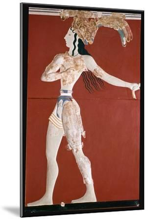Priest-King' fresco from Knossos. Artist: Unknown-Unknown-Mounted Giclee Print