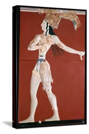 Priest-King' fresco from Knossos. Artist: Unknown-Unknown-Stretched Canvas Print