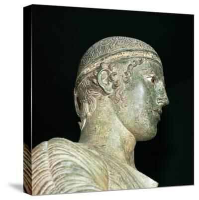 Detail of the Charioteer of Delphi, 5th century BC. Artist: Unknown-Unknown-Stretched Canvas Print