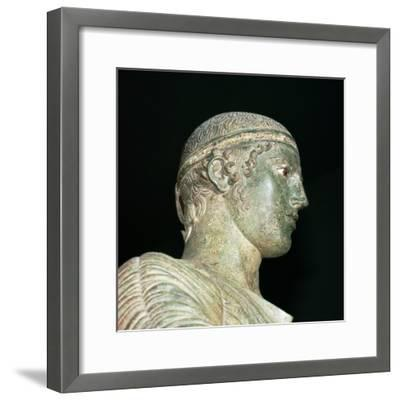 Detail of the Charioteer of Delphi, 5th century BC. Artist: Unknown-Unknown-Framed Giclee Print