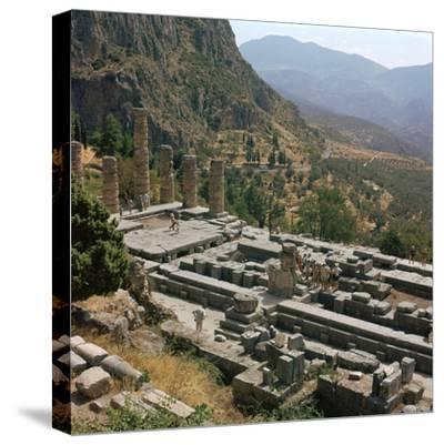 Temple of Apollo at Delphi, 6th century BC. Artist: Unknown-Unknown-Stretched Canvas Print