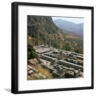Temple of Apollo at Delphi, 6th century BC. Artist: Unknown-Unknown-Framed Photographic Print