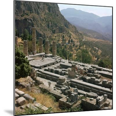 Temple of Apollo at Delphi, 6th century BC. Artist: Unknown-Unknown-Mounted Photographic Print