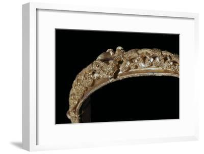 Detail of animal-style decoration on a gold Viking bracelet. Artist: Unknown-Unknown-Framed Giclee Print