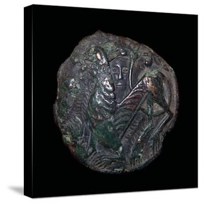 Viking metalwork from a hoard on the Isle of Man. Artist: Unknown-Unknown-Stretched Canvas Print