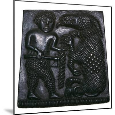 Bronze matrix for making decorative plaques for helmets, 8th century. Artist: Unknown-Unknown-Mounted Giclee Print