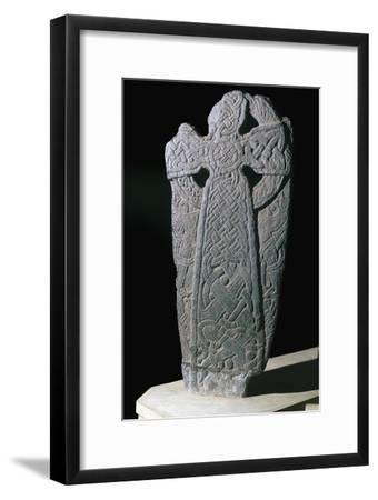 Norse dragon cross-slab from the Isle of Man, 11th century. Artist: Unknown-Unknown-Framed Giclee Print