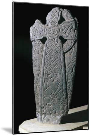 Norse dragon cross-slab from the Isle of Man, 11th century. Artist: Unknown-Unknown-Mounted Giclee Print