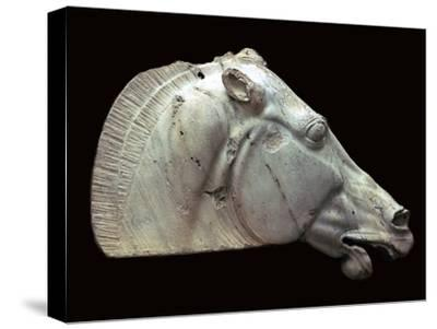 Horse of Selene from the Parthenon. Artist: Unknown-Unknown-Stretched Canvas Print