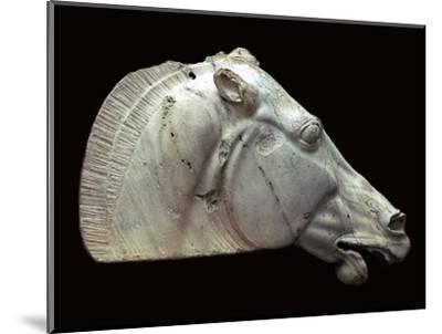 Horse of Selene from the Parthenon. Artist: Unknown-Unknown-Mounted Giclee Print