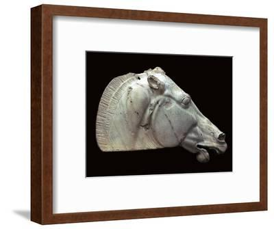 Horse of Selene from the Parthenon. Artist: Unknown-Unknown-Framed Giclee Print