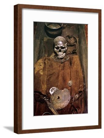 Early bronze age burial from Denmark, 16th century BC. Artist: Unknown-Unknown-Framed Giclee Print