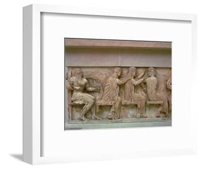 Detail of a frieze on the Treasury of the Siphnians, 6th century BC. Artist: Unknown-Unknown-Framed Giclee Print