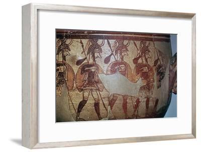 Detail of the Greek Warrior Vase, 13th century BC. Artist: Unknown-Unknown-Framed Giclee Print