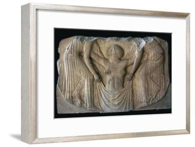 Detail from the Greek 'Ludovisi throne', 5th century BC. Artist: Unknown-Unknown-Framed Giclee Print