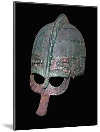 Germanic Iron Age helmet, 7th century. Artist: Unknown-Unknown-Mounted Giclee Print