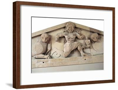 A gorgon and panthers from the pediment of the temple of Artemis on Corfu. Artist: Unknown-Unknown-Framed Giclee Print