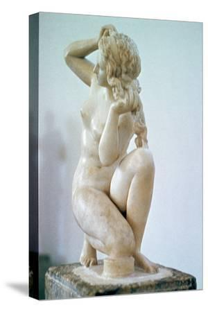 Venus of Rhodes, a Hellenistic statue. Artist: Unknown-Unknown-Stretched Canvas Print