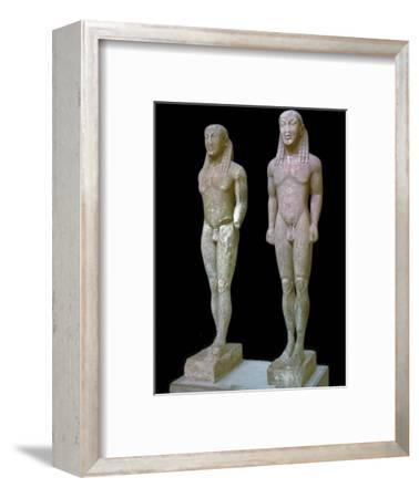 Greek statues of Kleobis and Biton, 6th century BC. Artist: Unknown-Unknown-Framed Giclee Print