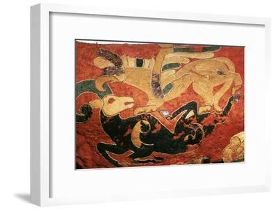Scythian saddle-cover with applied felt decoration, 5th century BC. Artist: Unknown-Unknown-Framed Giclee Print