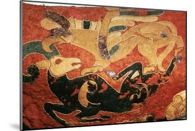 Scythian saddle-cover with applied felt decoration, 5th century BC. Artist: Unknown-Unknown-Mounted Giclee Print