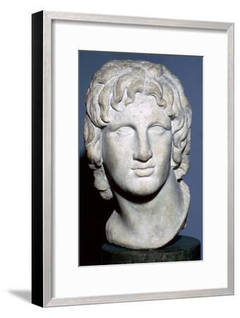 Marble portrait of Alexander the Great, Hellenistic Greek, 2nd-1st century BC. Artist: Unknown-Unknown-Framed Giclee Print