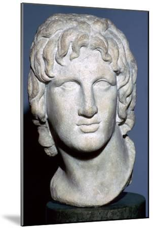 Marble portrait of Alexander the Great, Hellenistic Greek, 2nd-1st century BC. Artist: Unknown-Unknown-Mounted Giclee Print