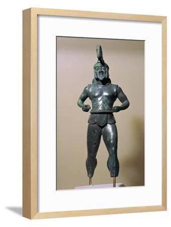 Greek bronze warrior from Dodona, 6th century BC. Artist: Unknown-Unknown-Framed Giclee Print