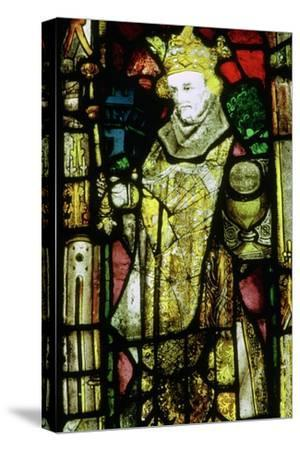 Stained glass image of Edward the Confessor. Artist: Unknown-Unknown-Stretched Canvas Print