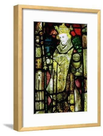 Stained glass image of Edward the Confessor. Artist: Unknown-Unknown-Framed Giclee Print
