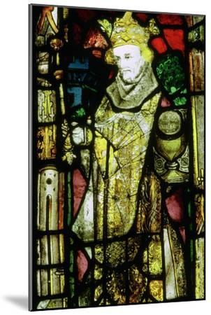 Stained glass image of Edward the Confessor. Artist: Unknown-Unknown-Mounted Giclee Print