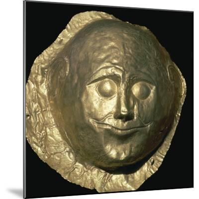Gold death-mask of a Mycenaean King, 17th century BC. Artist: Unknown-Unknown-Mounted Giclee Print