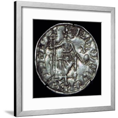 Anglo-Saxon Silver Penny of Edward the Confessor. Artist: Unknown-Unknown-Framed Giclee Print