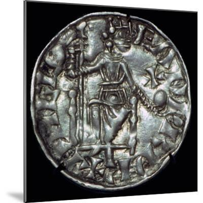 Anglo-Saxon Silver Penny of Edward the Confessor. Artist: Unknown-Unknown-Mounted Giclee Print