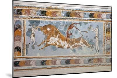 Bull-leaping' fresco from Knossos. Artist: Unknown-Unknown-Mounted Giclee Print