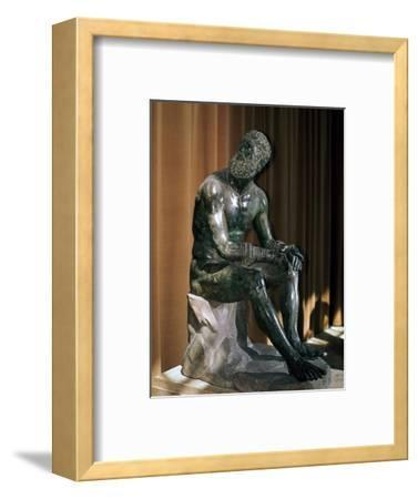 Greek statue, the boxer of Apollonius, 1st century BC. Artist: Unknown-Unknown-Framed Giclee Print