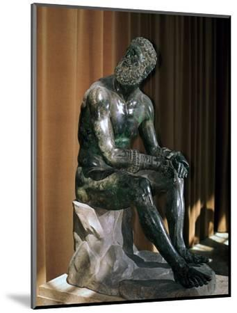 Greek statue, the boxer of Apollonius, 1st century BC. Artist: Unknown-Unknown-Mounted Giclee Print