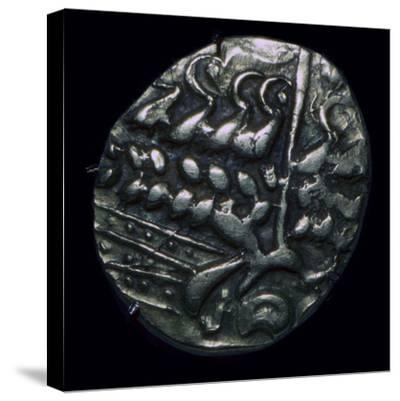 Celtic gold 'stater', 1st century. Artist: Unknown-Unknown-Stretched Canvas Print