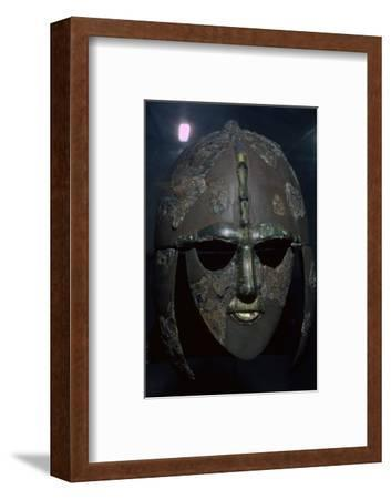 Sutton Hoo Helmet, from the ship burial, 7th century. Artist: Unknown-Unknown-Framed Photographic Print