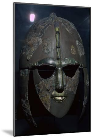 Sutton Hoo Helmet, from the ship burial, 7th century. Artist: Unknown-Unknown-Mounted Photographic Print
